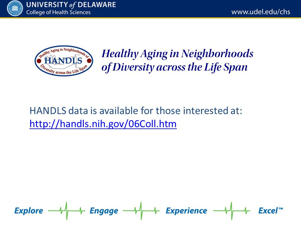 HANDLS data is available for those interested at: http://handls. nih