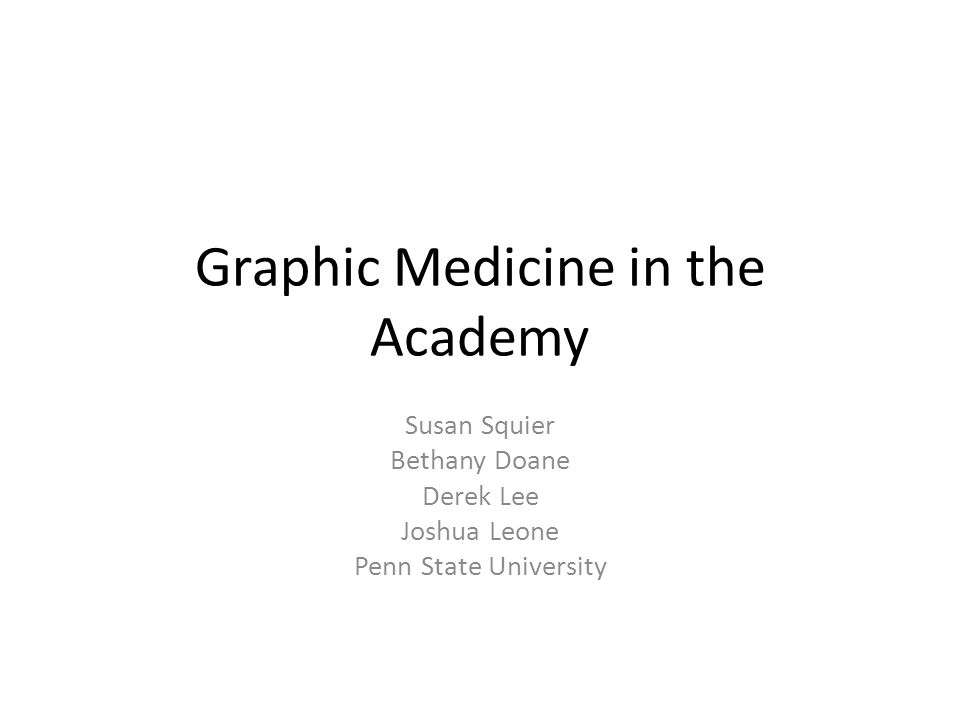 Graphic Medicine in the Academy