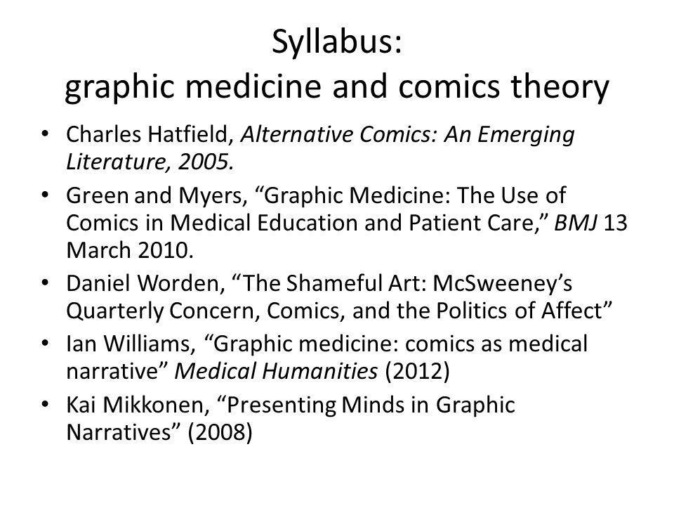 Syllabus: graphic medicine and comics theory
