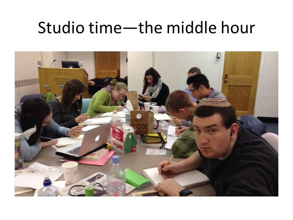Studio time—the middle hour