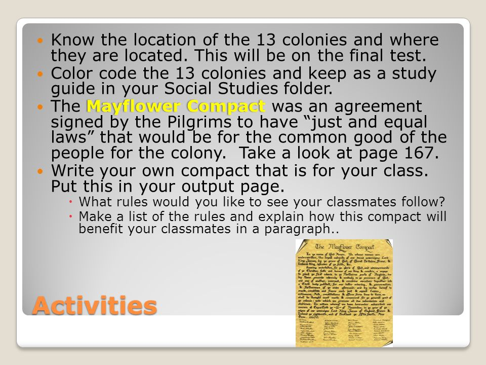 Know the location of the 13 colonies and where they are located