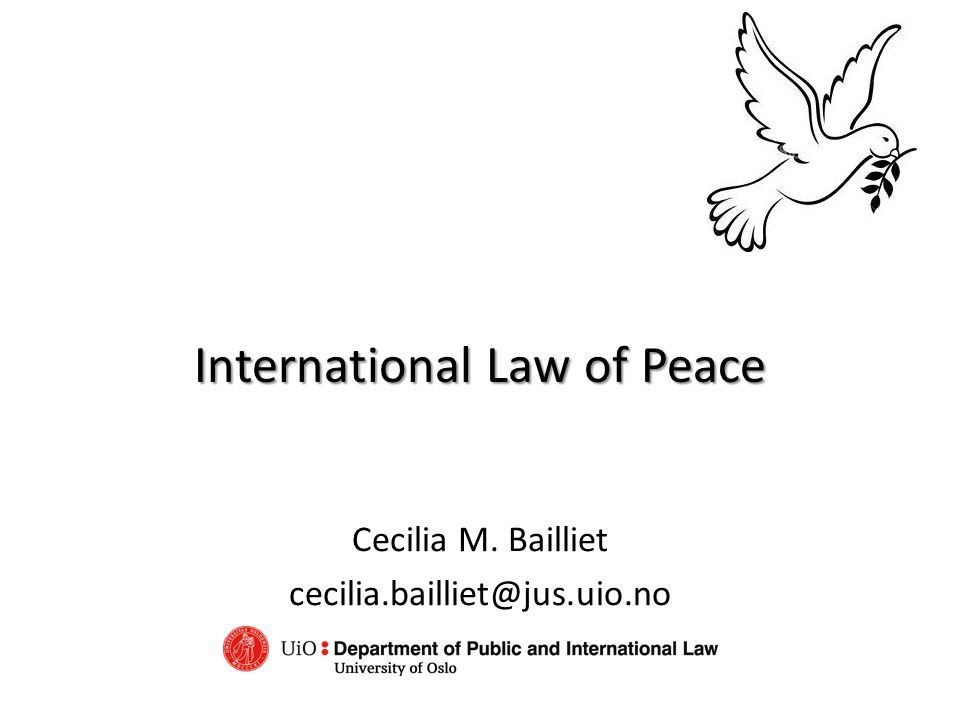 International Law of Peace