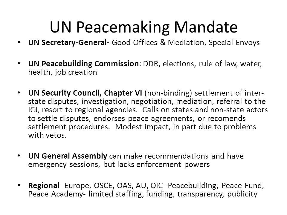 UN Peacemaking Mandate