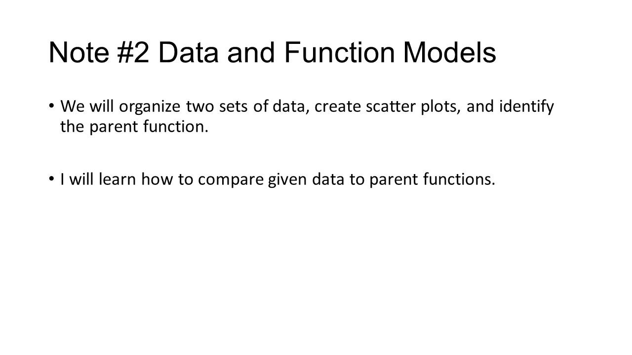 Note #2 Data and Function Models