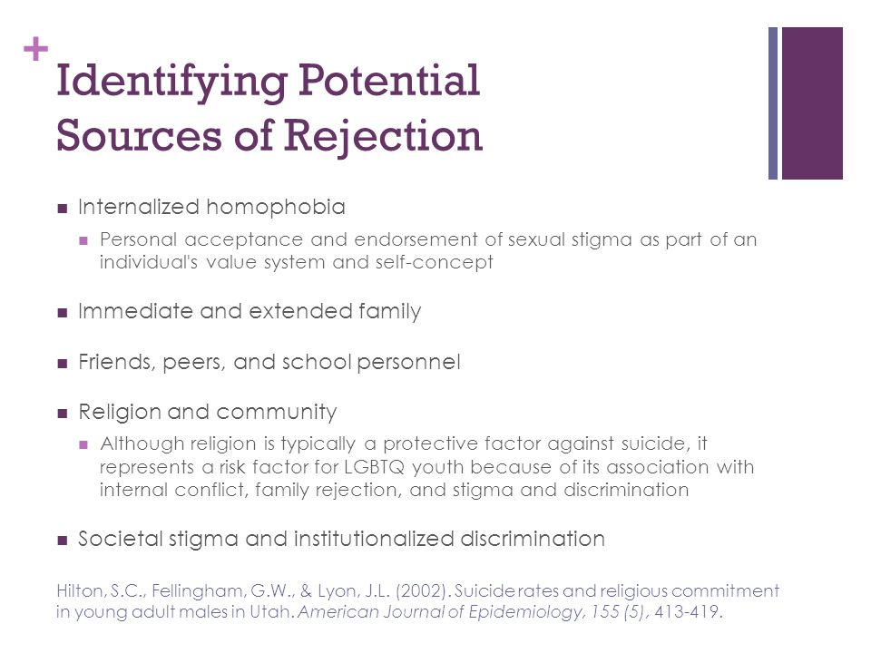 Identifying Potential Sources of Rejection