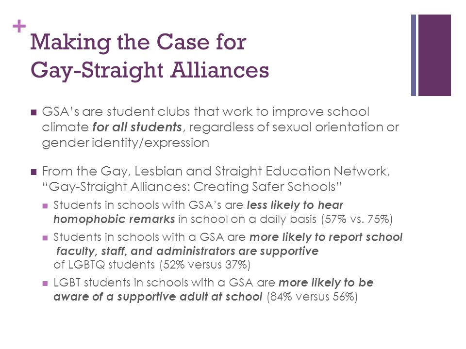 Making the Case for Gay-Straight Alliances