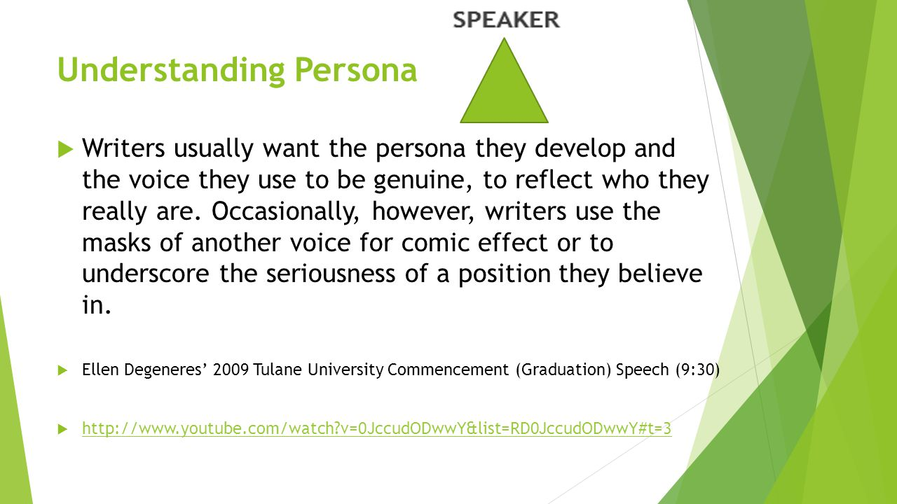 Understanding Persona