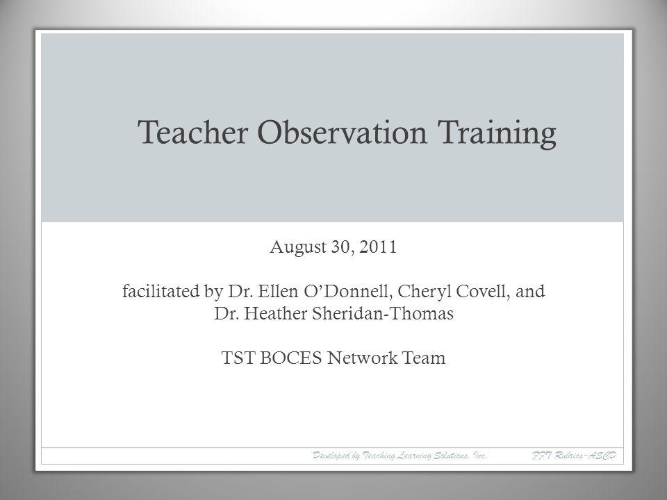 Teacher Observation Training