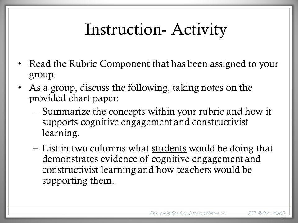 Instruction- Activity