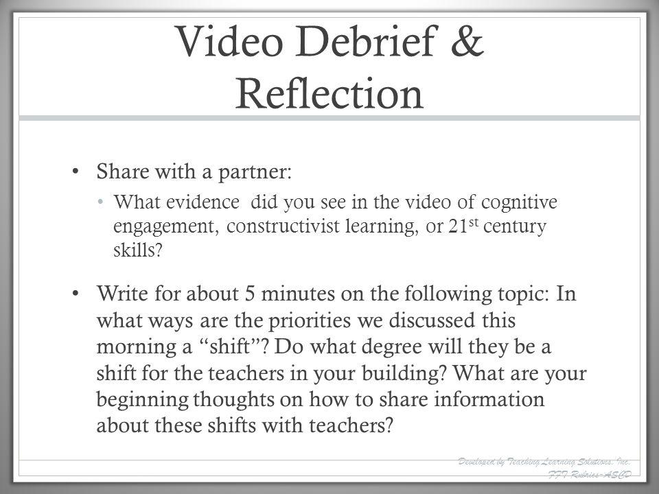 Video Debrief & Reflection