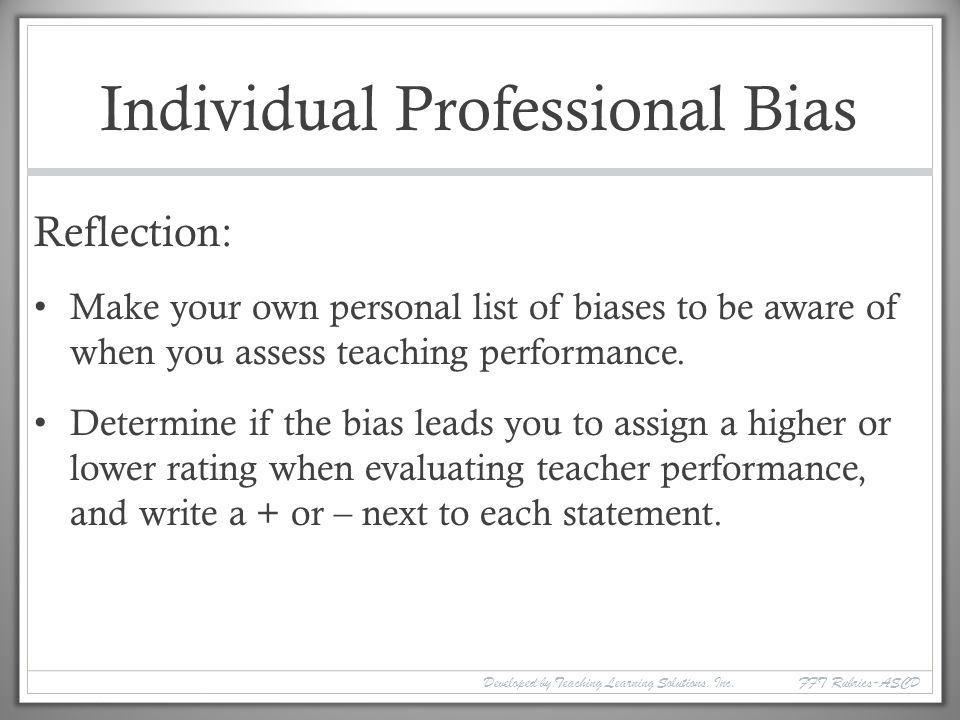 Individual Professional Bias