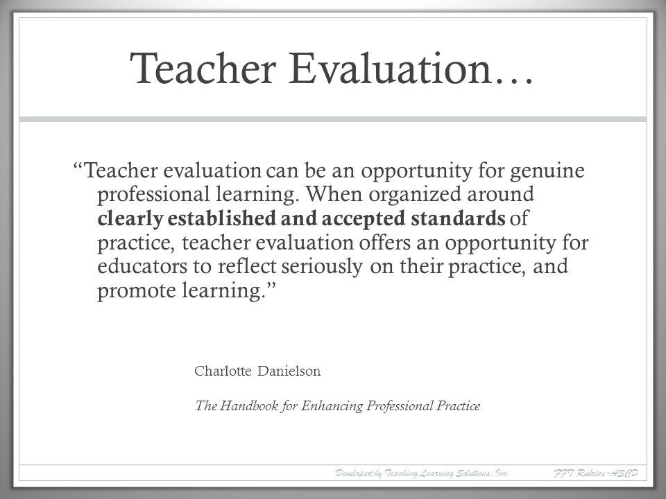 Teacher Evaluation…