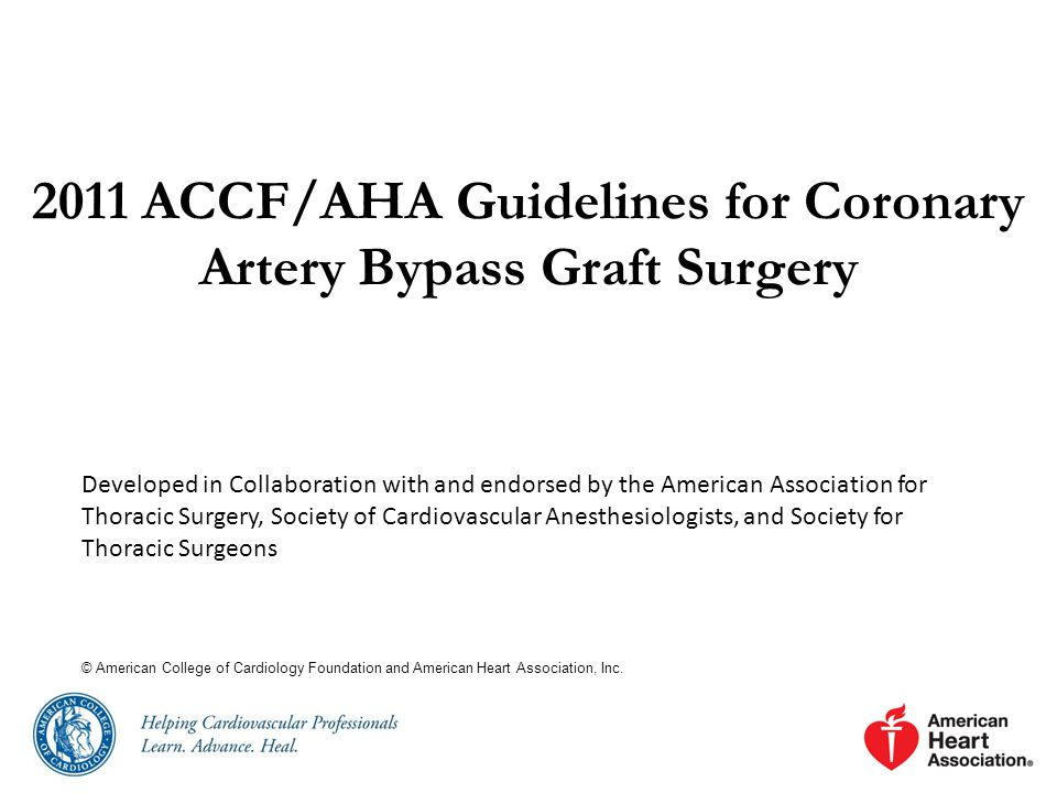 2011 ACCF/AHA Guidelines for Coronary Artery Bypass Graft Surgery