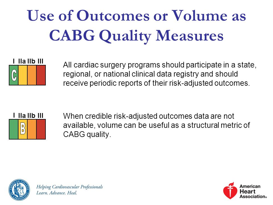Use of Outcomes or Volume as CABG Quality Measures