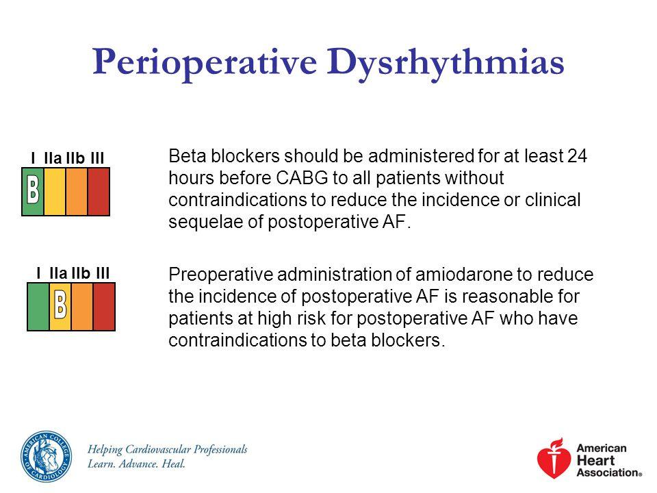 Perioperative Dysrhythmias