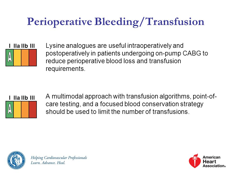 Perioperative Bleeding/Transfusion