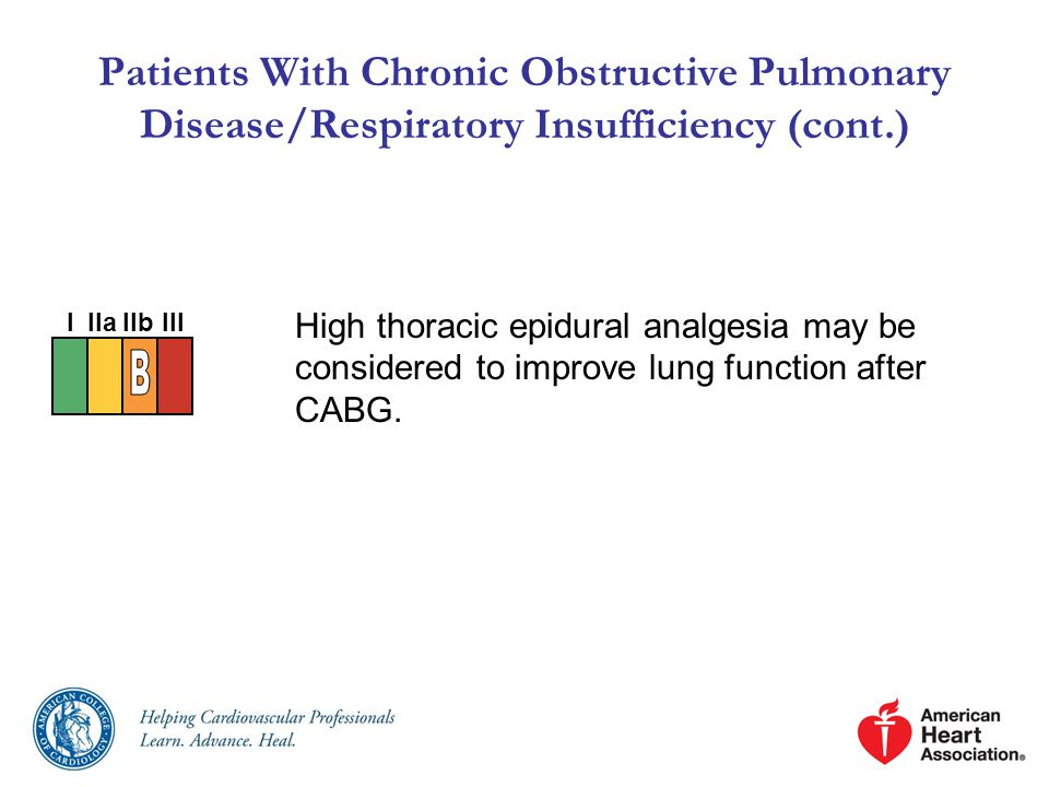 Patients With Chronic Obstructive Pulmonary Disease/Respiratory Insufficiency (cont.)