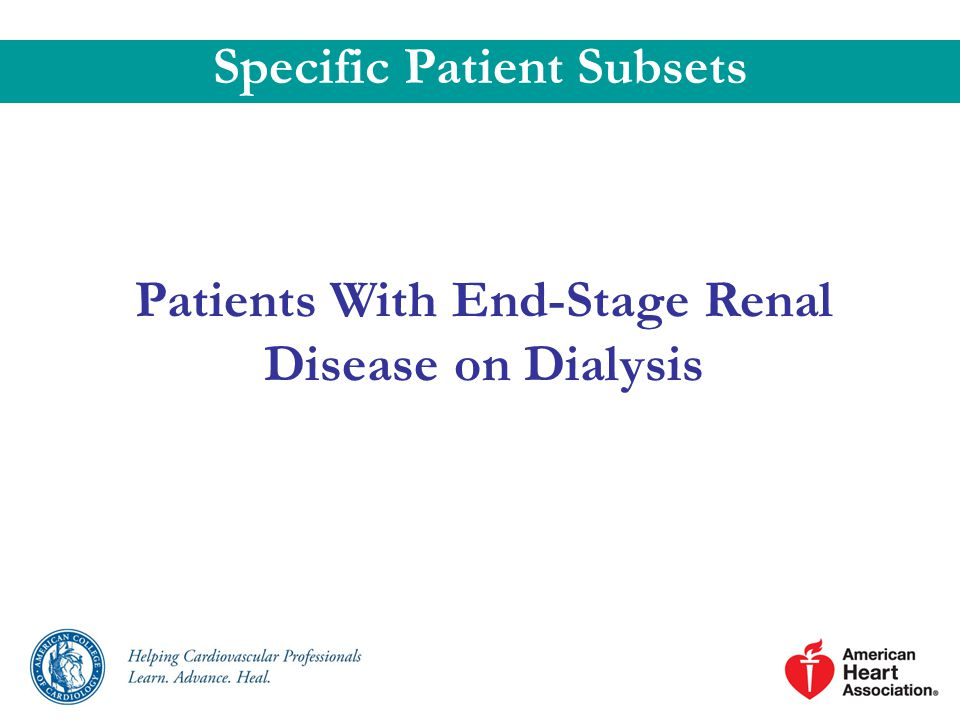 Specific Patient Subsets