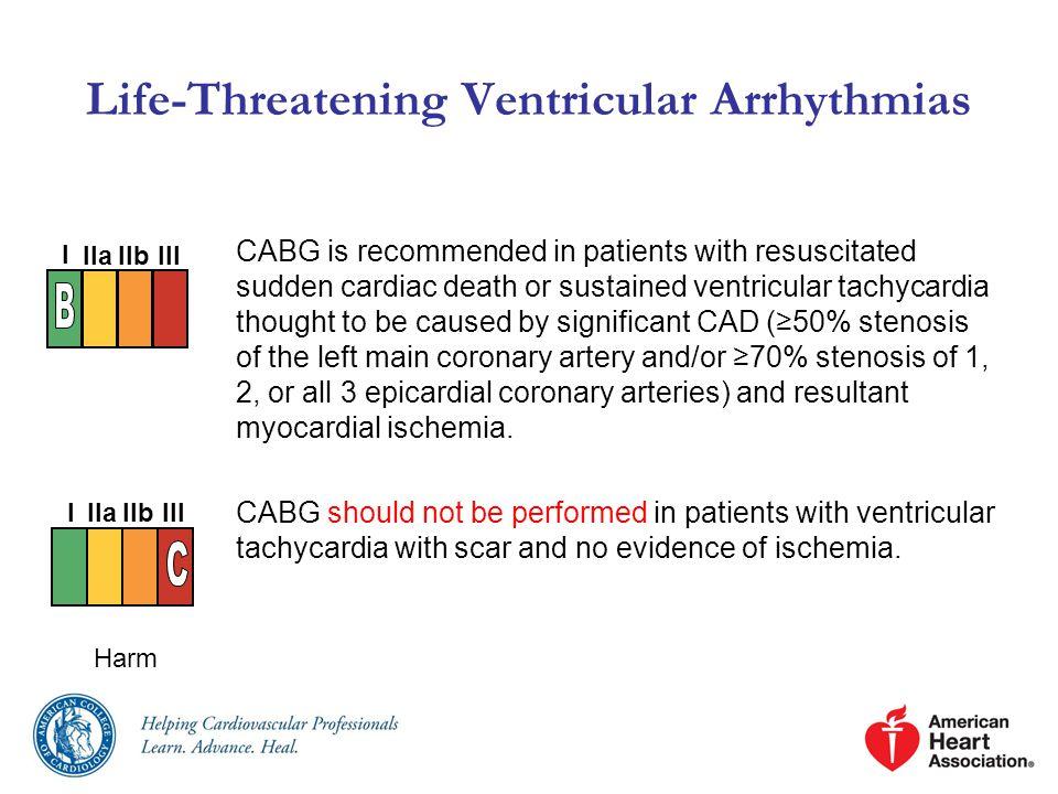 Life-Threatening Ventricular Arrhythmias