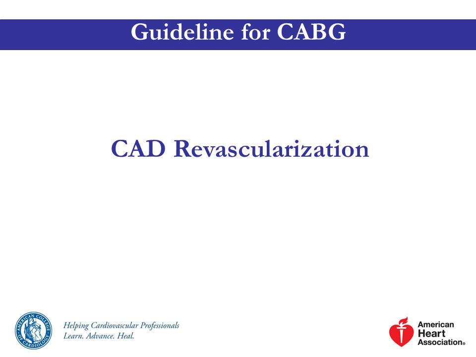 CAD Revascularization