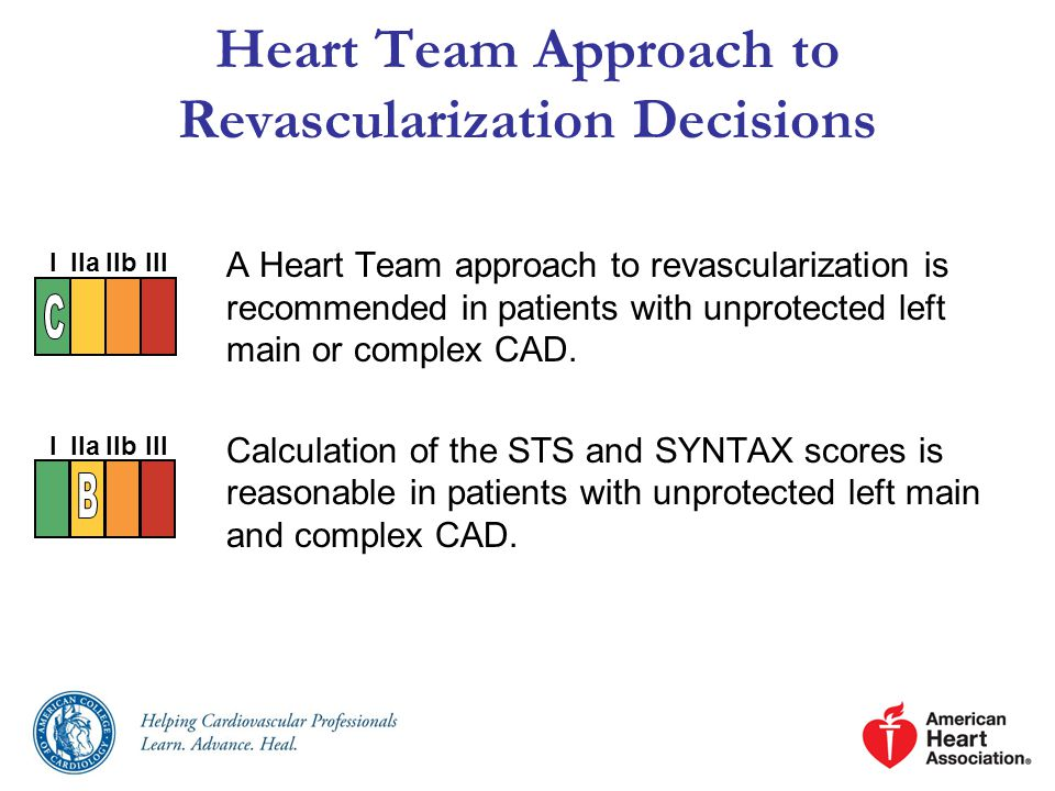 Heart Team Approach to Revascularization Decisions