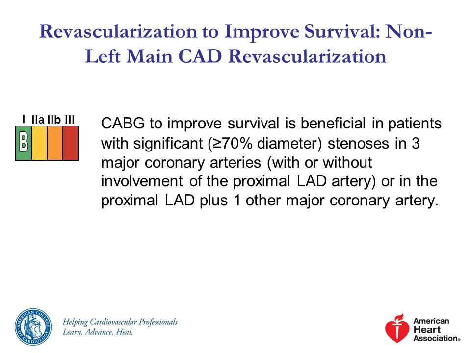 Revascularization to Improve Survival: Non-Left Main CAD Revascularization