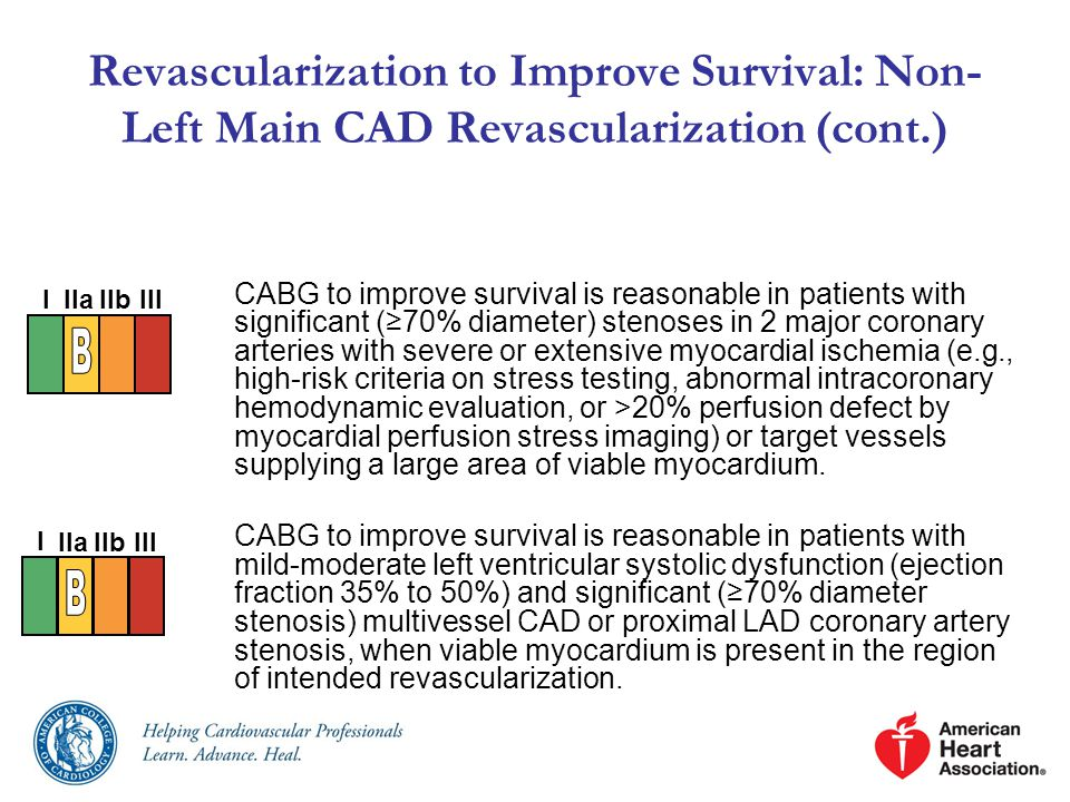 Revascularization to Improve Survival: Non-Left Main CAD Revascularization (cont.)