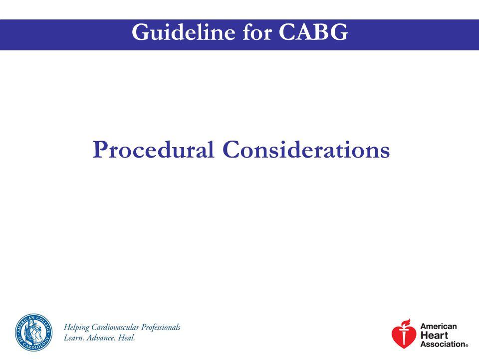 Procedural Considerations