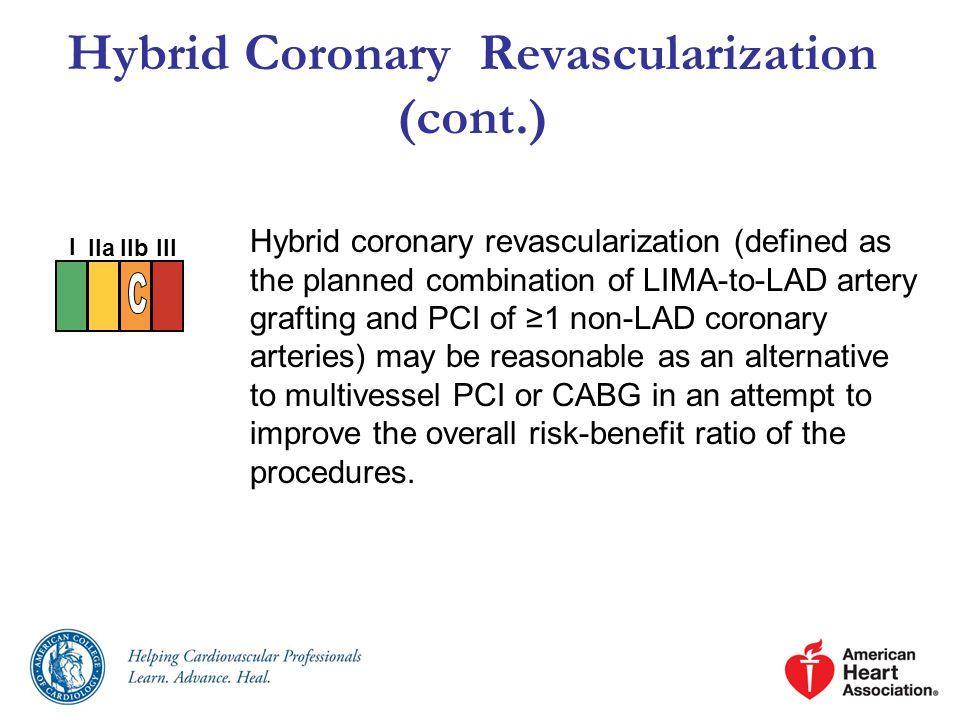 Hybrid Coronary Revascularization (cont.)