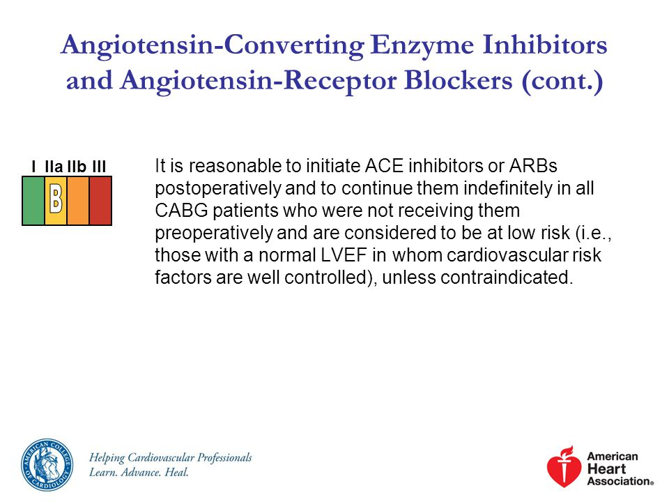 Angiotensin-Converting Enzyme Inhibitors and Angiotensin-Receptor Blockers (cont.)