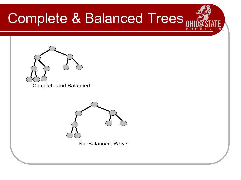 Complete & Balanced Trees
