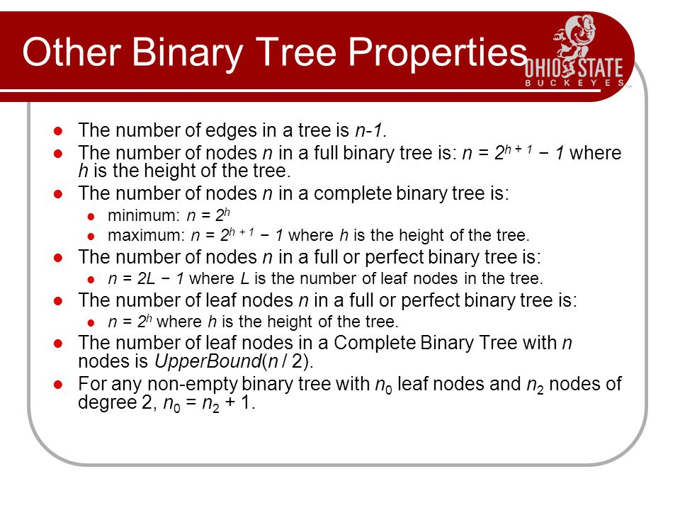 Other Binary Tree Properties