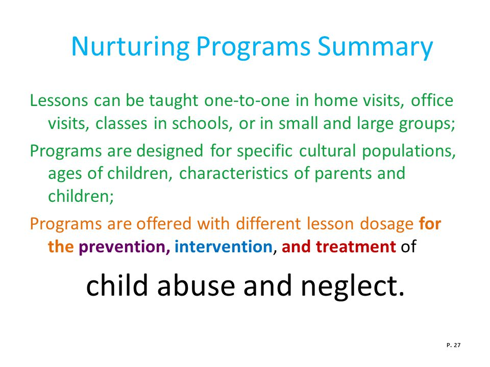 Nurturing Programs Summary