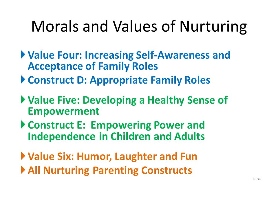 Morals and Values of Nurturing