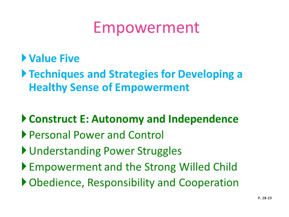 Empowerment Value Five
