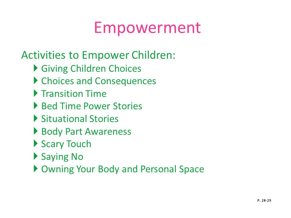 Empowerment Activities to Empower Children: Giving Children Choices