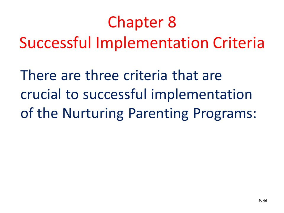 Chapter 8 Successful Implementation Criteria