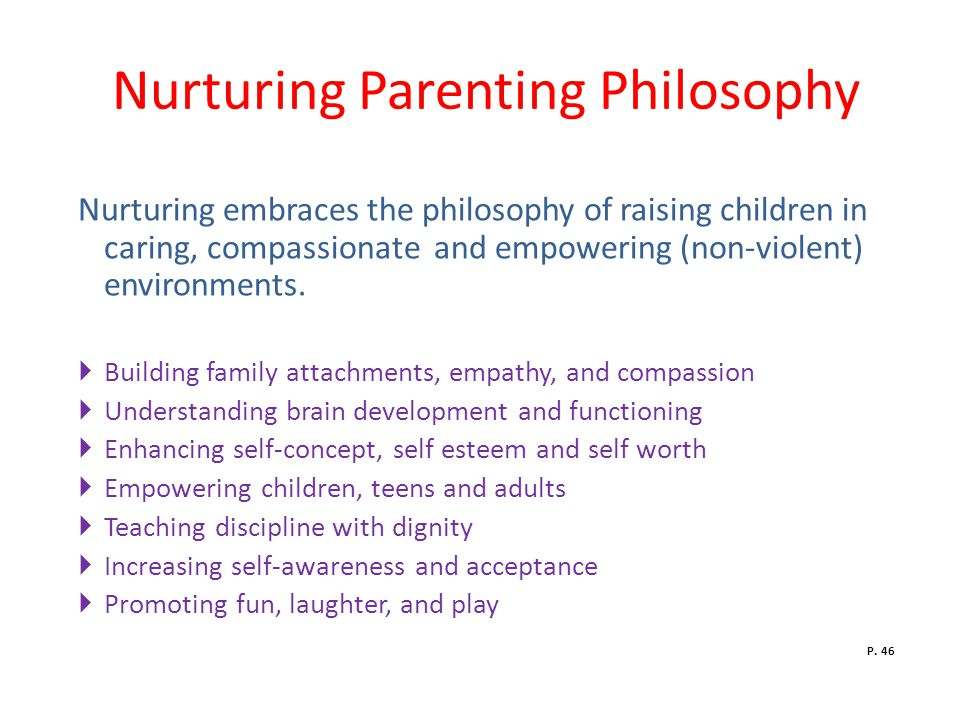 Nurturing Parenting Philosophy