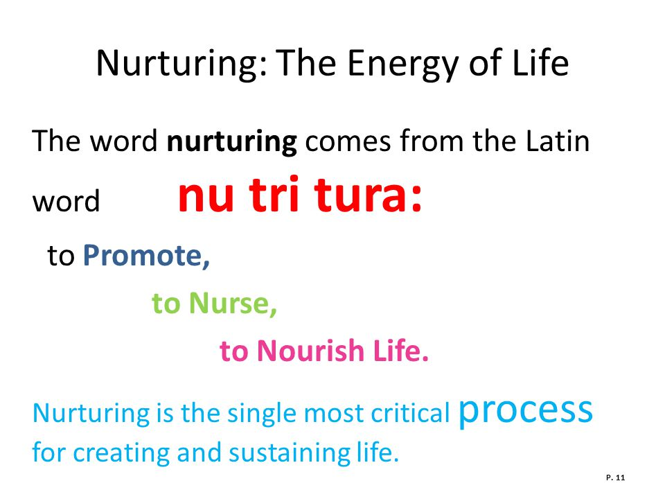 Nurturing: The Energy of Life