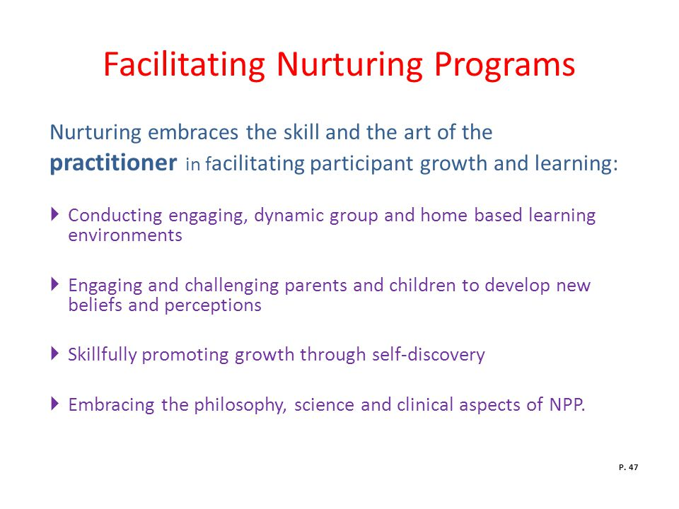 Facilitating Nurturing Programs