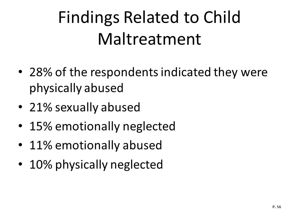 Findings Related to Child Maltreatment