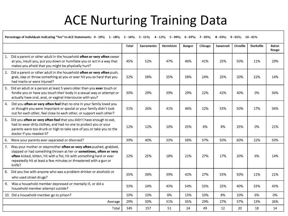 ACE Nurturing Training Data