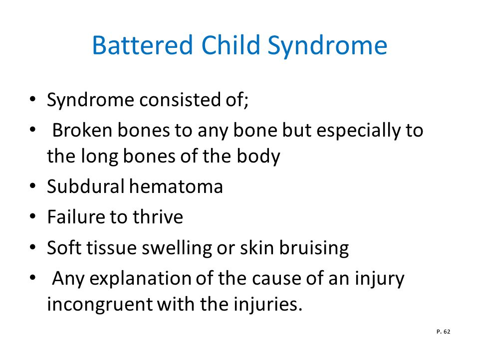 Battered Child Syndrome