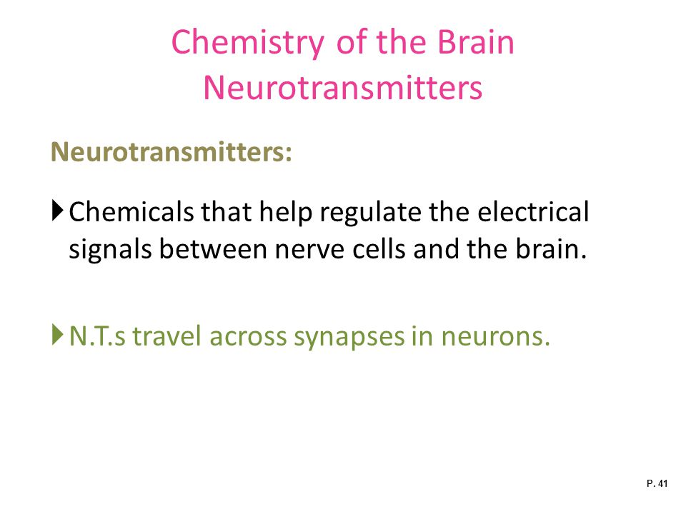 Chemistry of the Brain Neurotransmitters