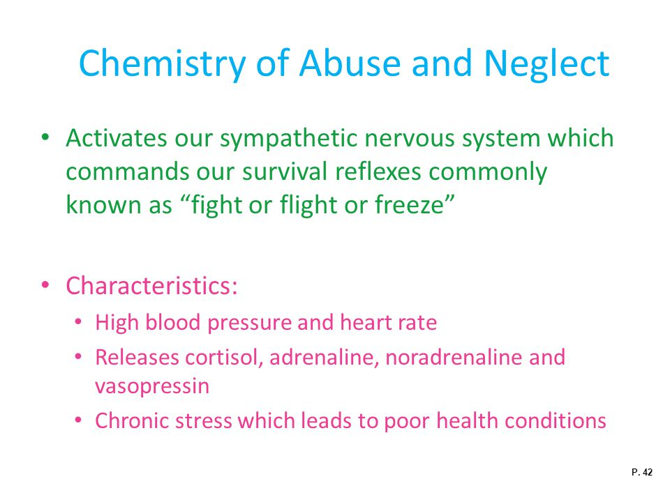 Chemistry of Abuse and Neglect