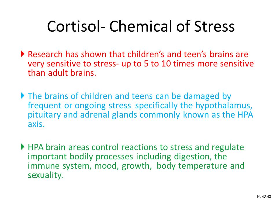 Cortisol- Chemical of Stress