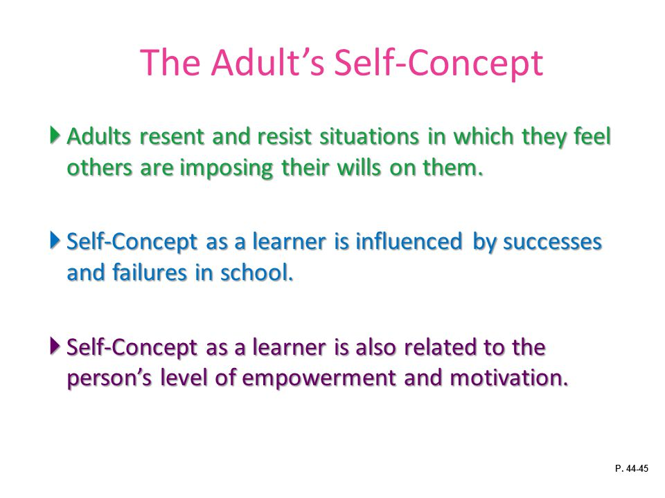 The Adult's Self-Concept