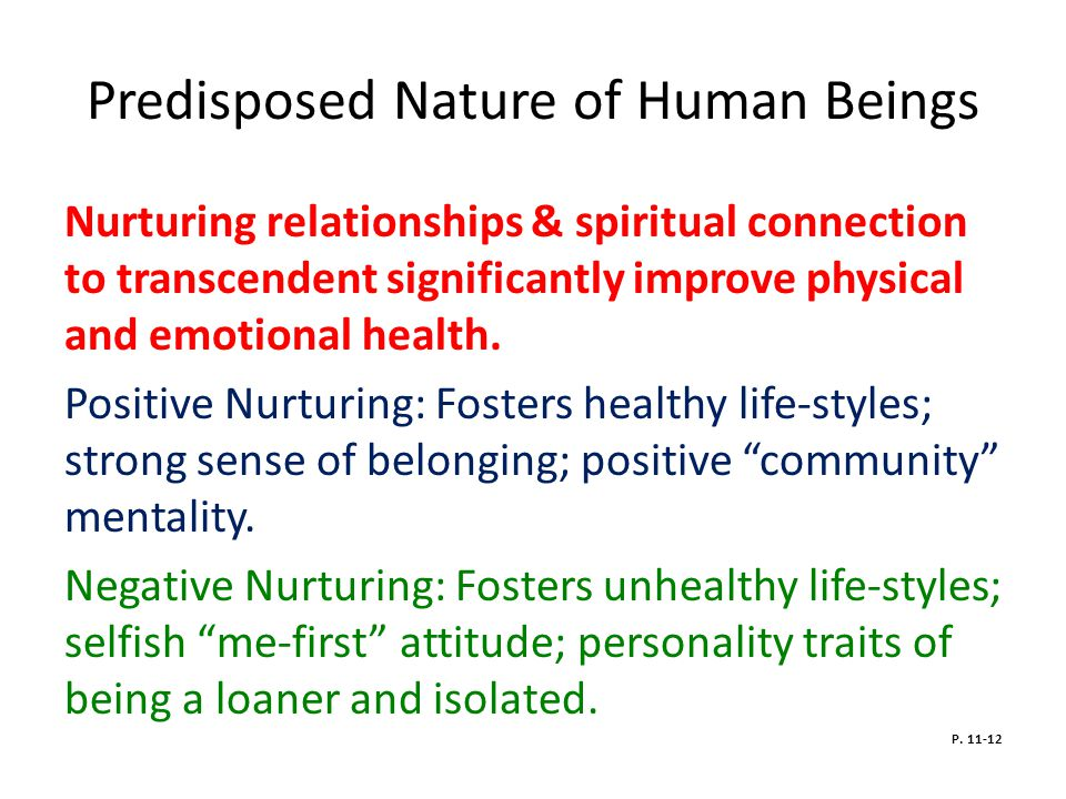 Predisposed Nature of Human Beings