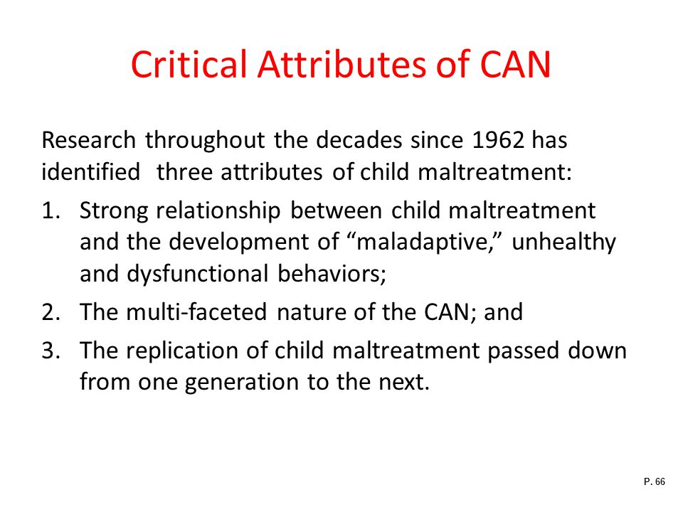Critical Attributes of CAN