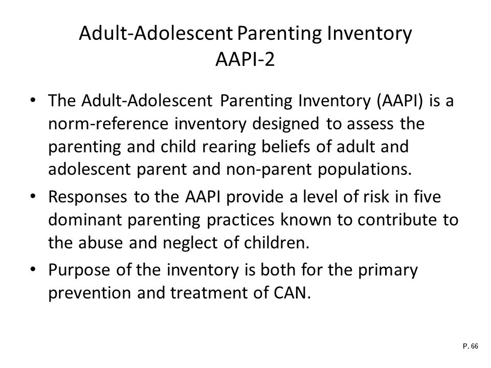 Adult-Adolescent Parenting Inventory AAPI-2
